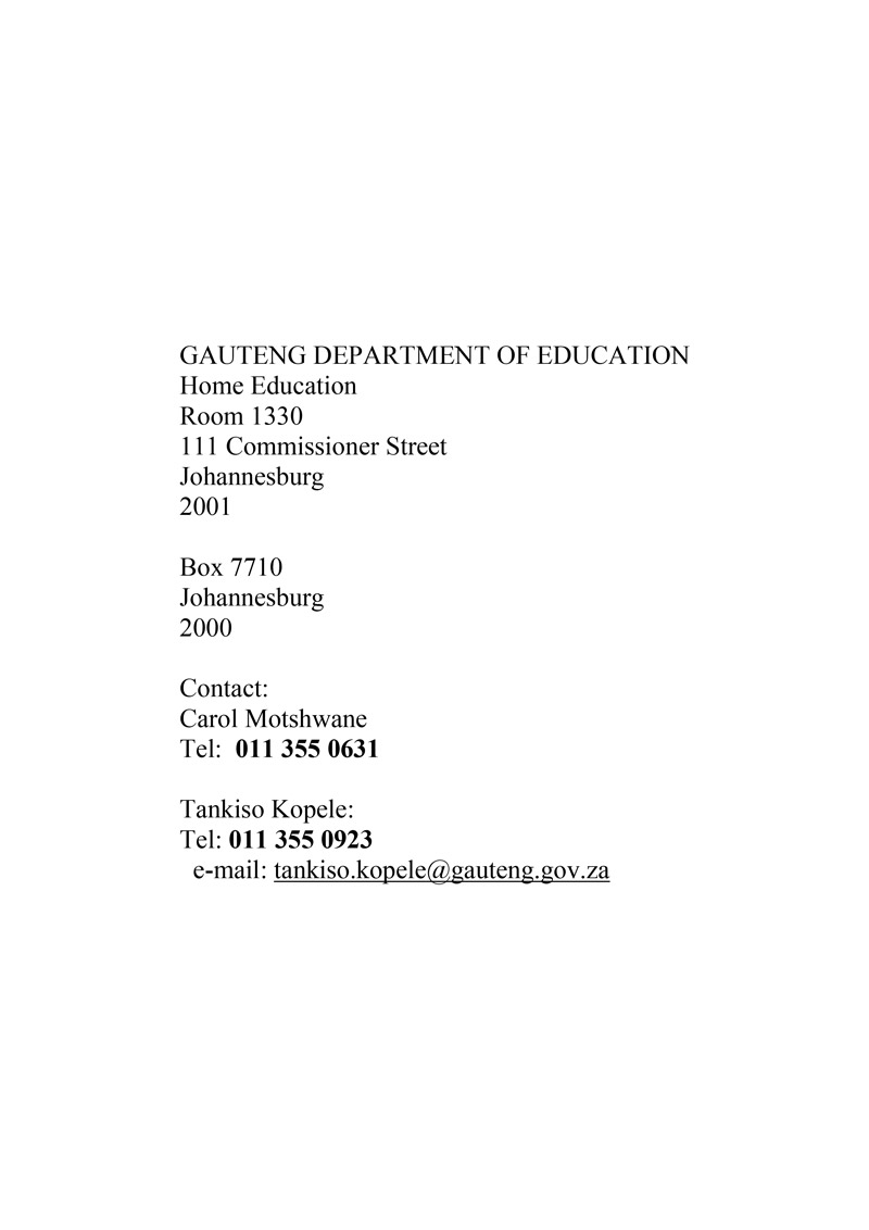 Department of Education Address